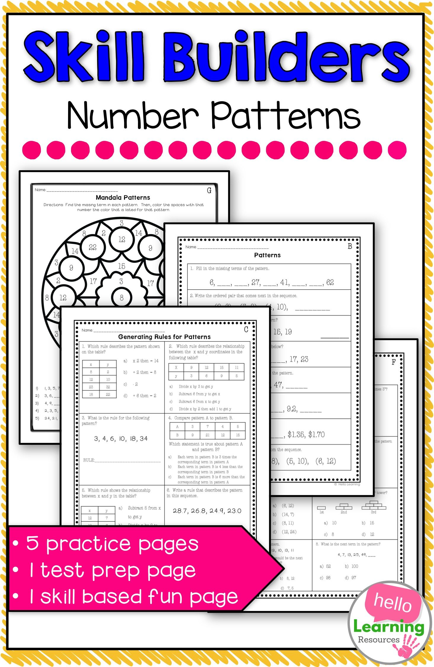 Number Patterns And Rules Worksheets