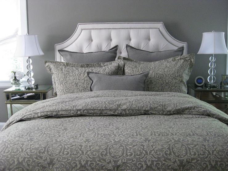 Bedrooms benjamin moore galveston gray restoration for Duvet covers restoration hardware