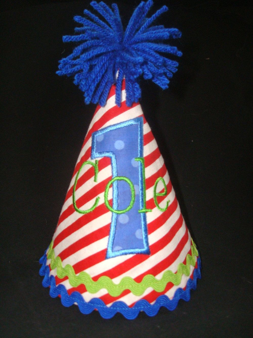 PERSONALIZED BOYS Birthday Hat Red Blue By Designsbyflutterbug 2095 1st Hats Its Your