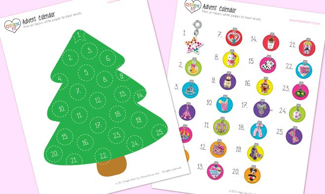 Christmas Advent Calendar Printable Free Worksheet Coloring Pages