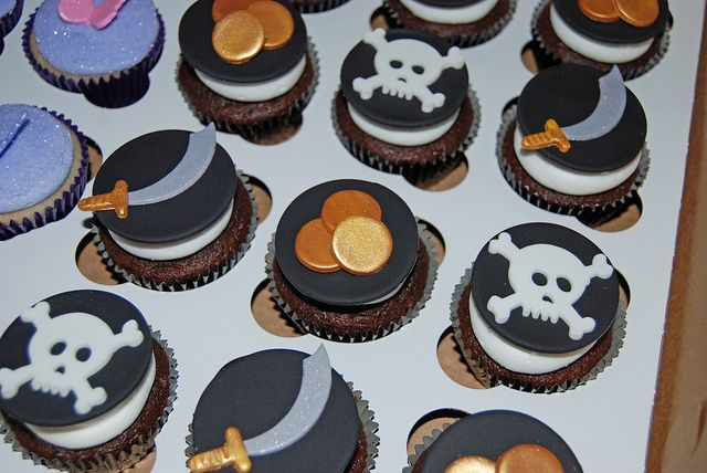 Pirate Cupcakes for a Pirates and Fairies Party by Simply Sweets, via Flickr