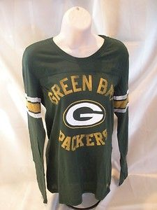 New victoria s secret green bay packers long sleeve shirt l nfl ... 34f7d9344
