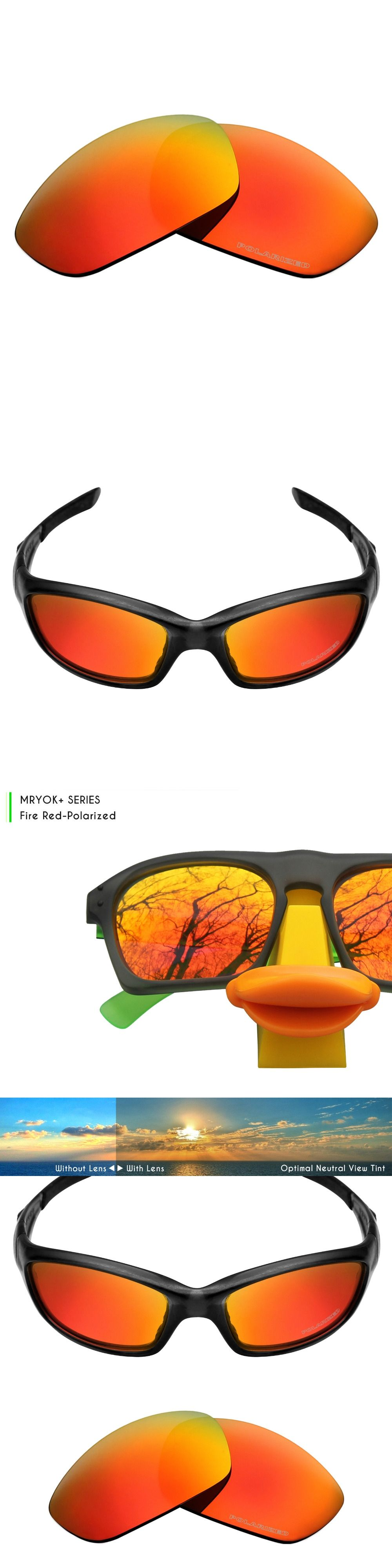 3c4e0a07d65 Mryok+ POLARIZED Resist SeaWater Replacement Lenses for Oakley Straight  Jacket 2007 Sunglasses Fire Red