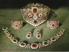Ruby, Diamond and Spinel Parure - 1830 - by Rielander -  of gift from King Ludwig I of Bavaria for his Queen Therese