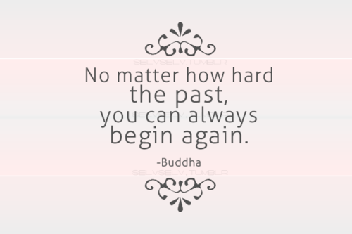 A hard past often makes a great future.