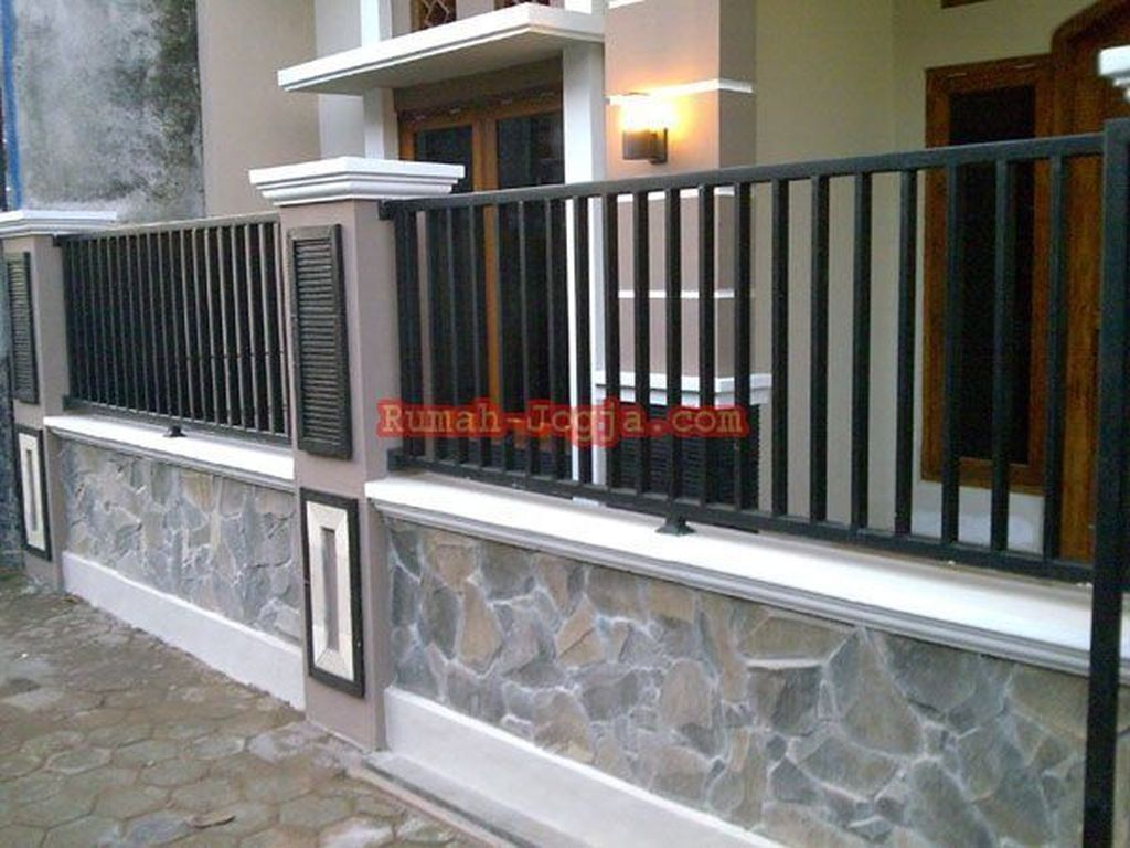 32 Cool Modern Fence Design Ideas Best For Modern House Modern Fence Design House Fence Design Gate Wall Design