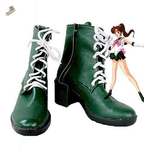 Sailor Moon Sailor Jupiter Makoto Kino Cosplay Shoes Boots Custom Made 1