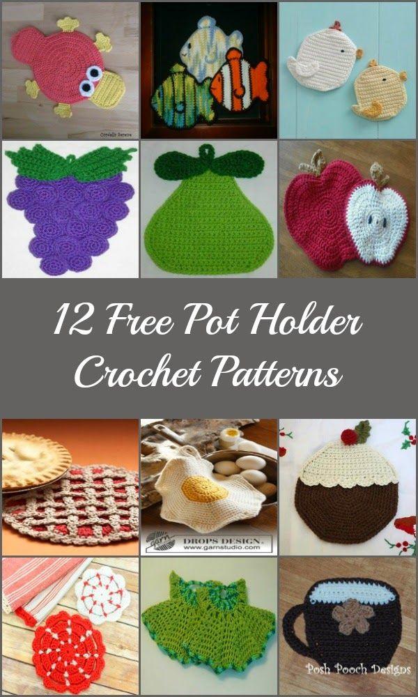 keepingbusy: 12 Free Pot Holder Crochet Patterns | Crochet/Knit Bath ...