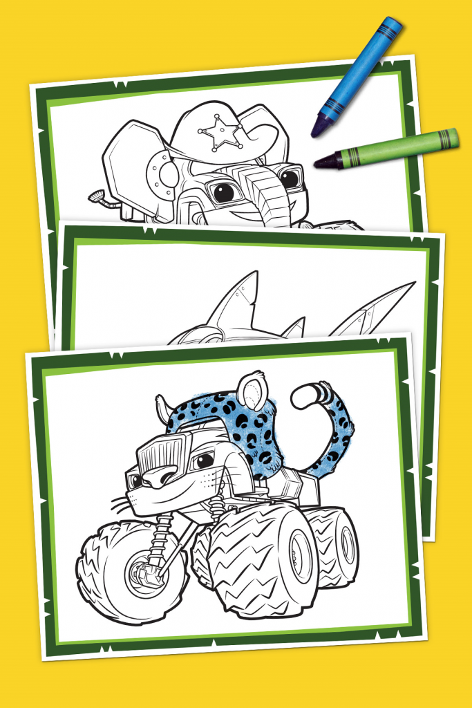 Blaze Wild Wheels Coloring Pack Coloring Books Toddler Coloring Book Coloring Pages