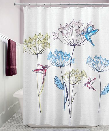 Love This White Hummingbird Shower Curtain On Zulily