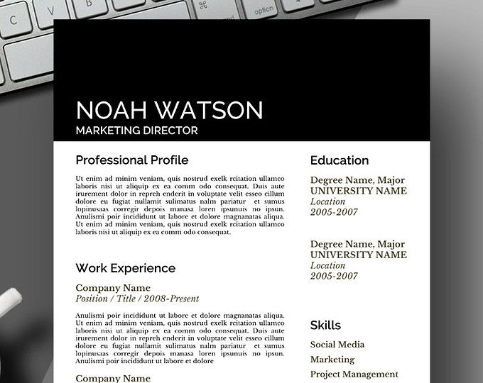 Uber Modern Design Resume Template Save Time Get Your Dream Job