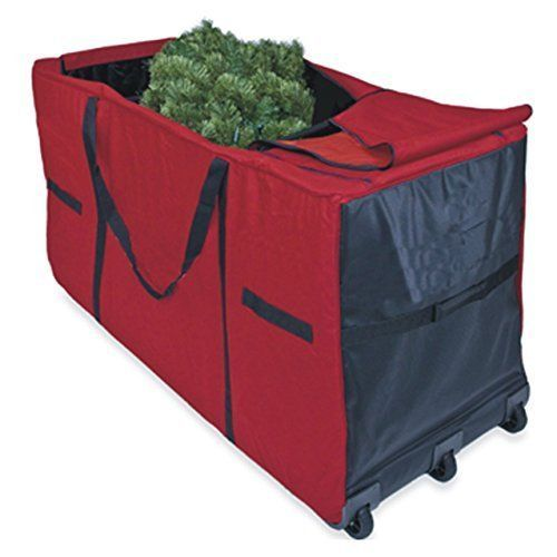 "Christmas Tree Storage Bag With Wheels Entrancing Christmas Tree Storage Bag Heavy Duty Container With Wheels 58""x24 Decorating Design"
