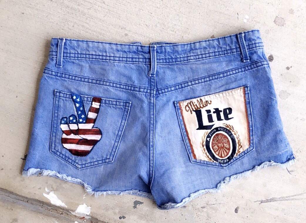 Send in your own shorts, jeans, etc. and have painted like pictured or as requested!