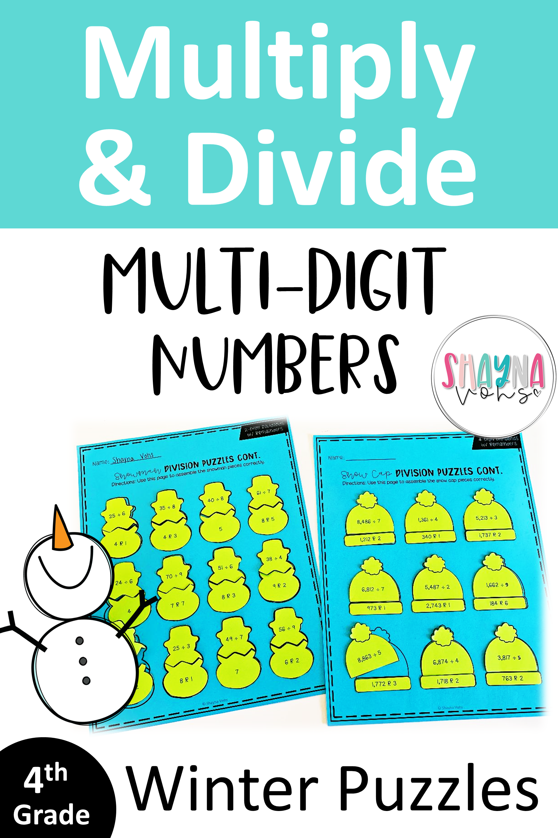 Multiplication And Division Puzzles With Images