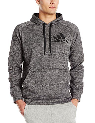 best cheap 17479 76675 adidas Performance Men s Team Issue Pullover Hoodie, Medium, Dark Grey  Heather Black adidas