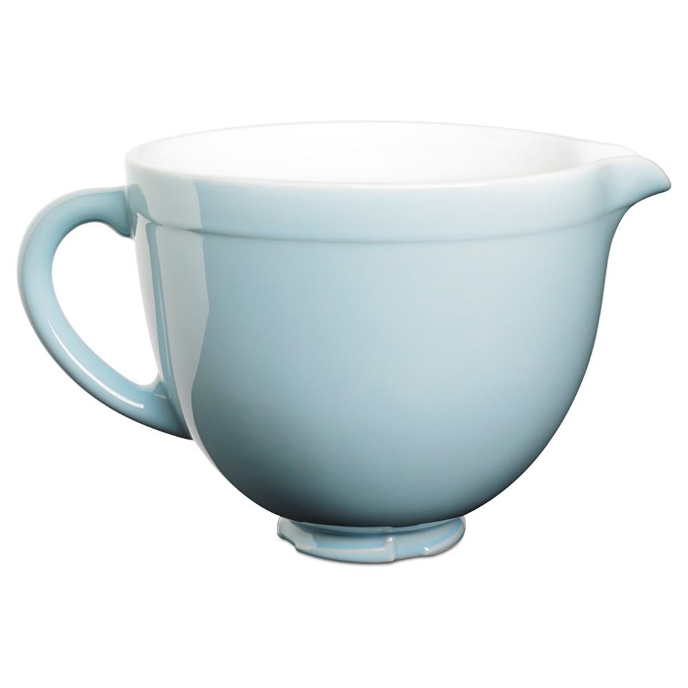 Kitchenaid 5 quart tilthead ceramic bowl ksmcb5 blue