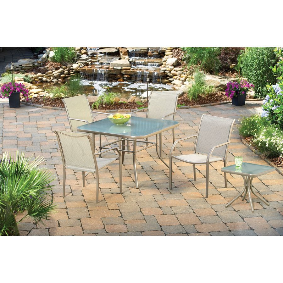 Garden Treasures Driscol Square Dining Table At Lowes