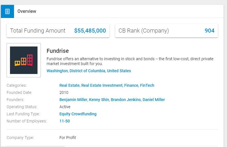 Fundrise offers an alternative to investing in stock and bonds -- the first  low-