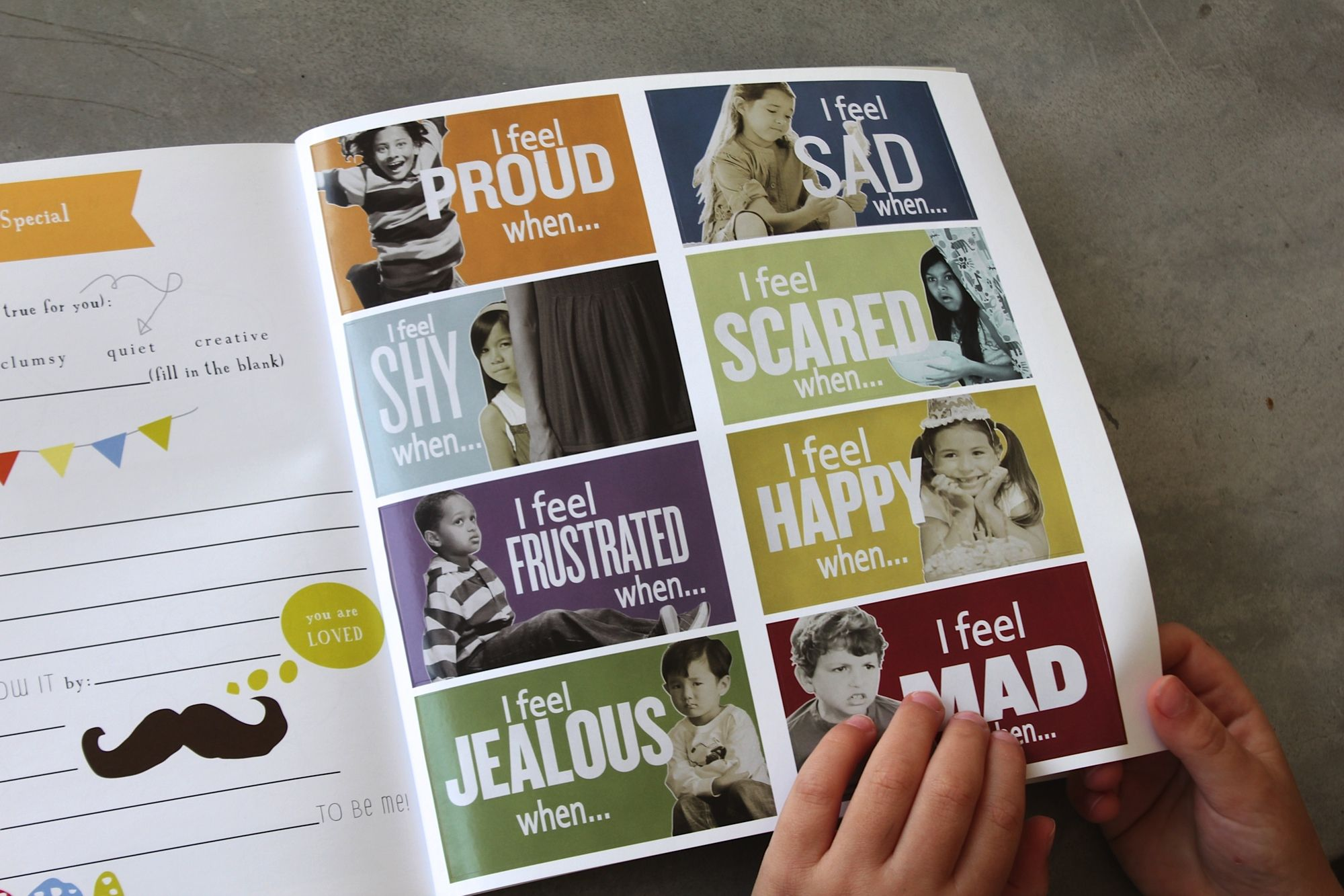 A personalized journal for young kids to document and explore their feelings.