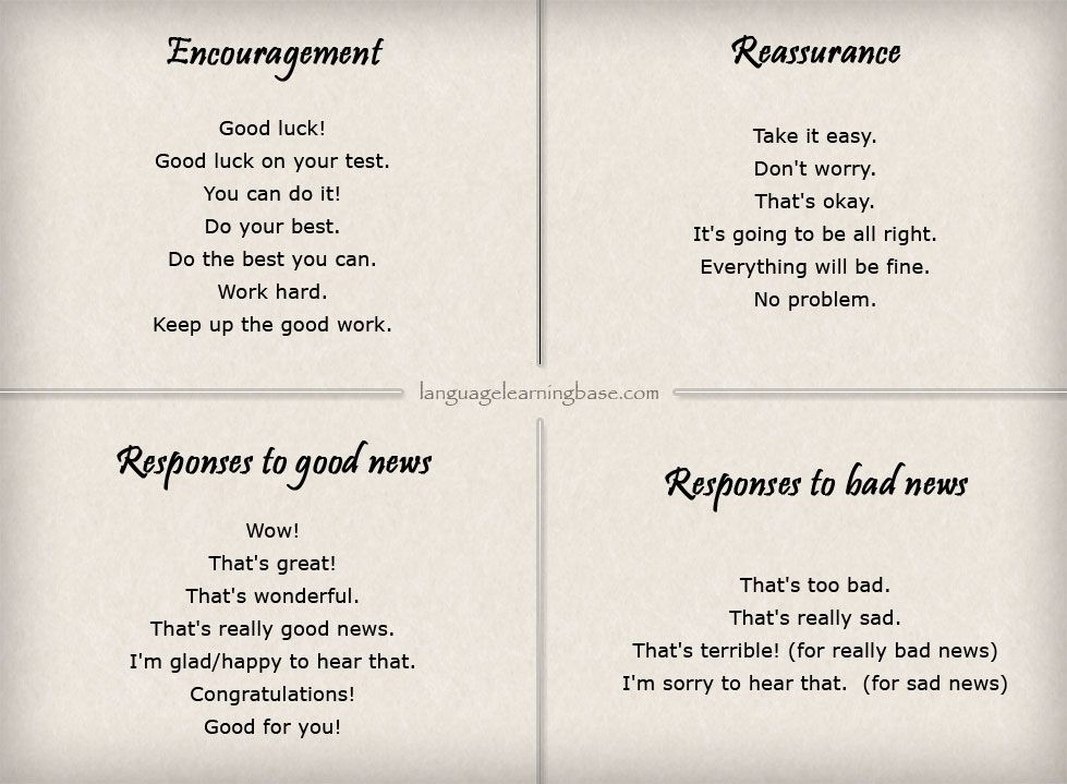 English Phrases For Encouraging Someone English