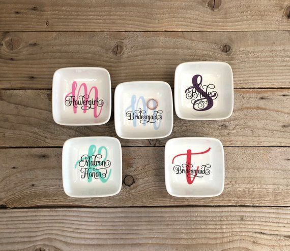 Wedding Attendants Gifts: Bridesmaids Gifts, Wedding Party Gifts, Ring Dish