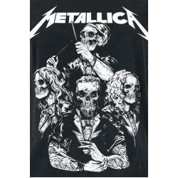 Metallica S&M2 Skull Tux Damen-T-Shirt – schwarz – Offizielles Merchandise
