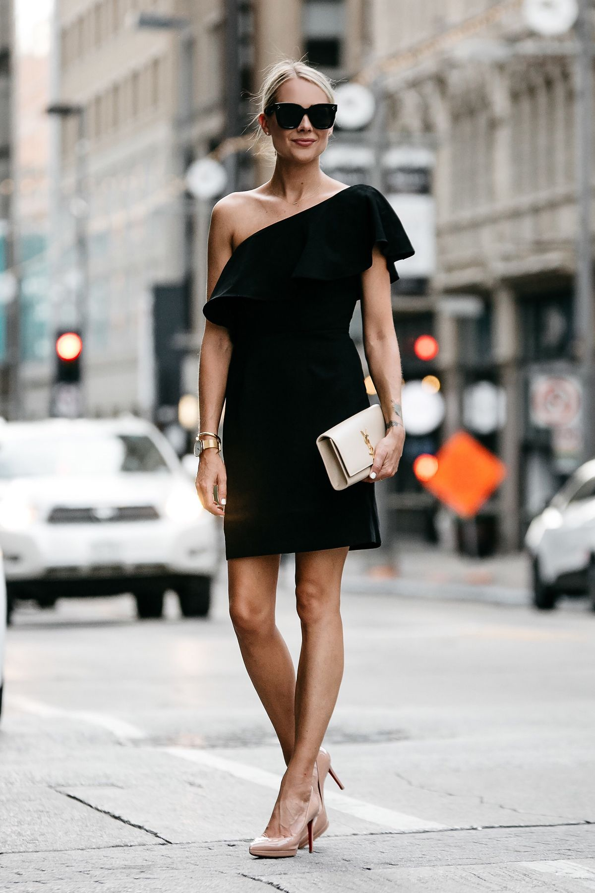 Wedding Season Is Upon Us And Nothing Beats A Classic Black Dress This Black One Shoulder Ruffle Dress Fashion Jackson Womens Fashion Women S Fashion Dresses [ 1800 x 1200 Pixel ]