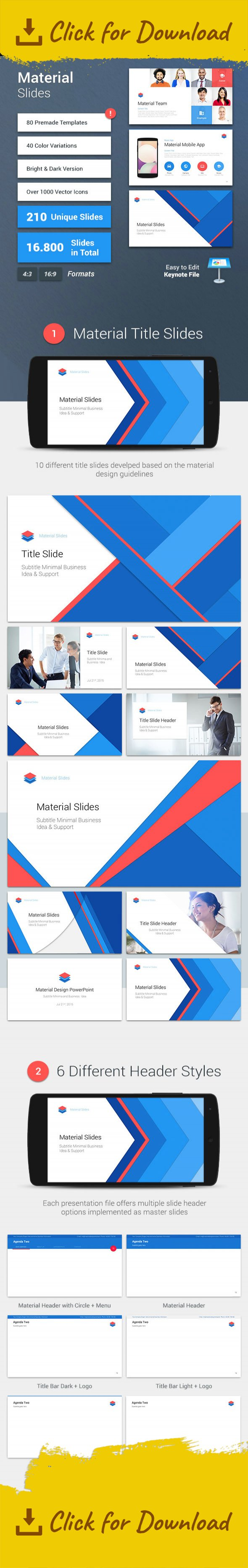material keynote presentation template keynote design pinterest