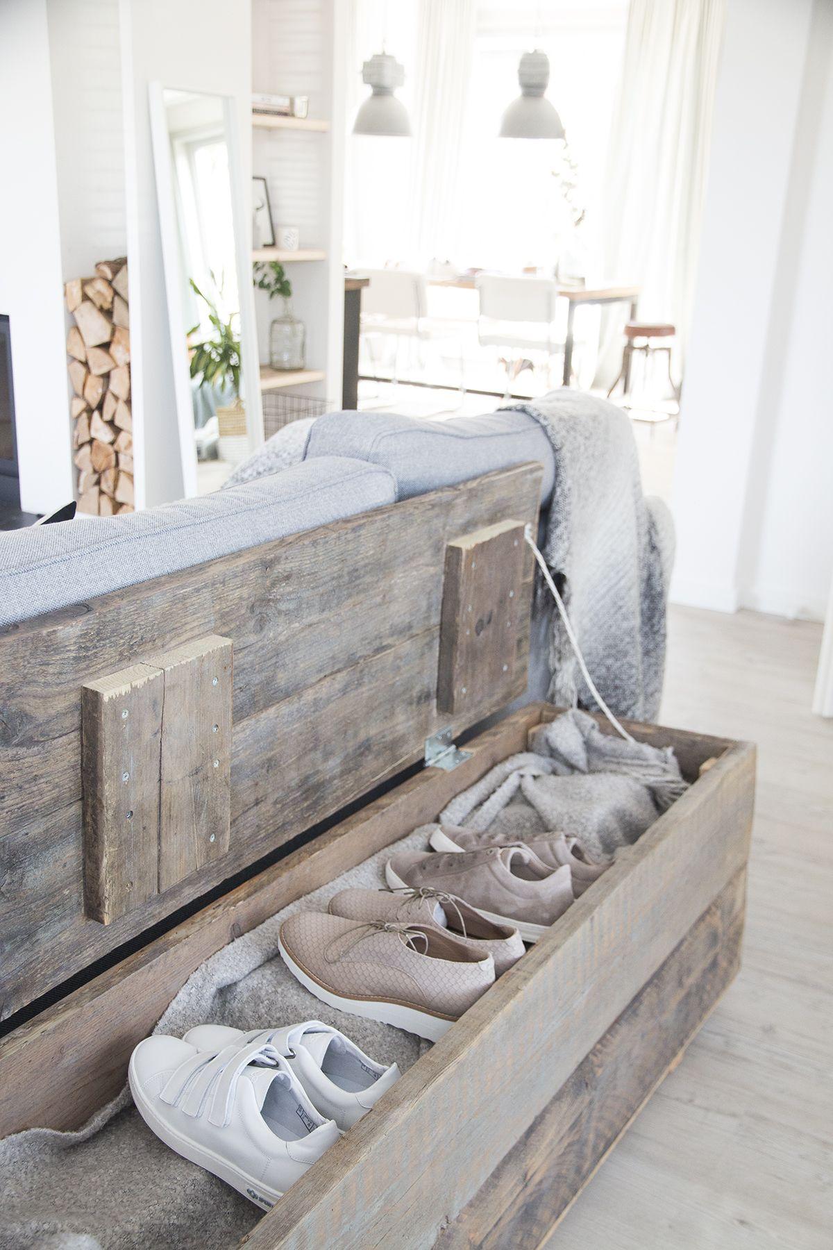 schoenen opber van steigerhout
