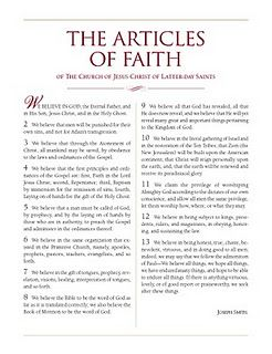 picture relating to Printable Articles of Faith identify Pin upon My Faith