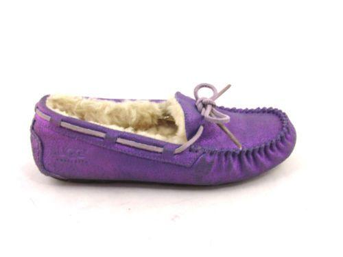 AUTH Ugg Dakota Ugg Purple Métallique Mocassin En Bateau 15360 Chaussures En Cuir De Mouton b2a92a2 - vendingmatic.info