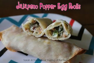 Fantastical Sharing of Recipes: Jalapeno Popper Egg Rolls