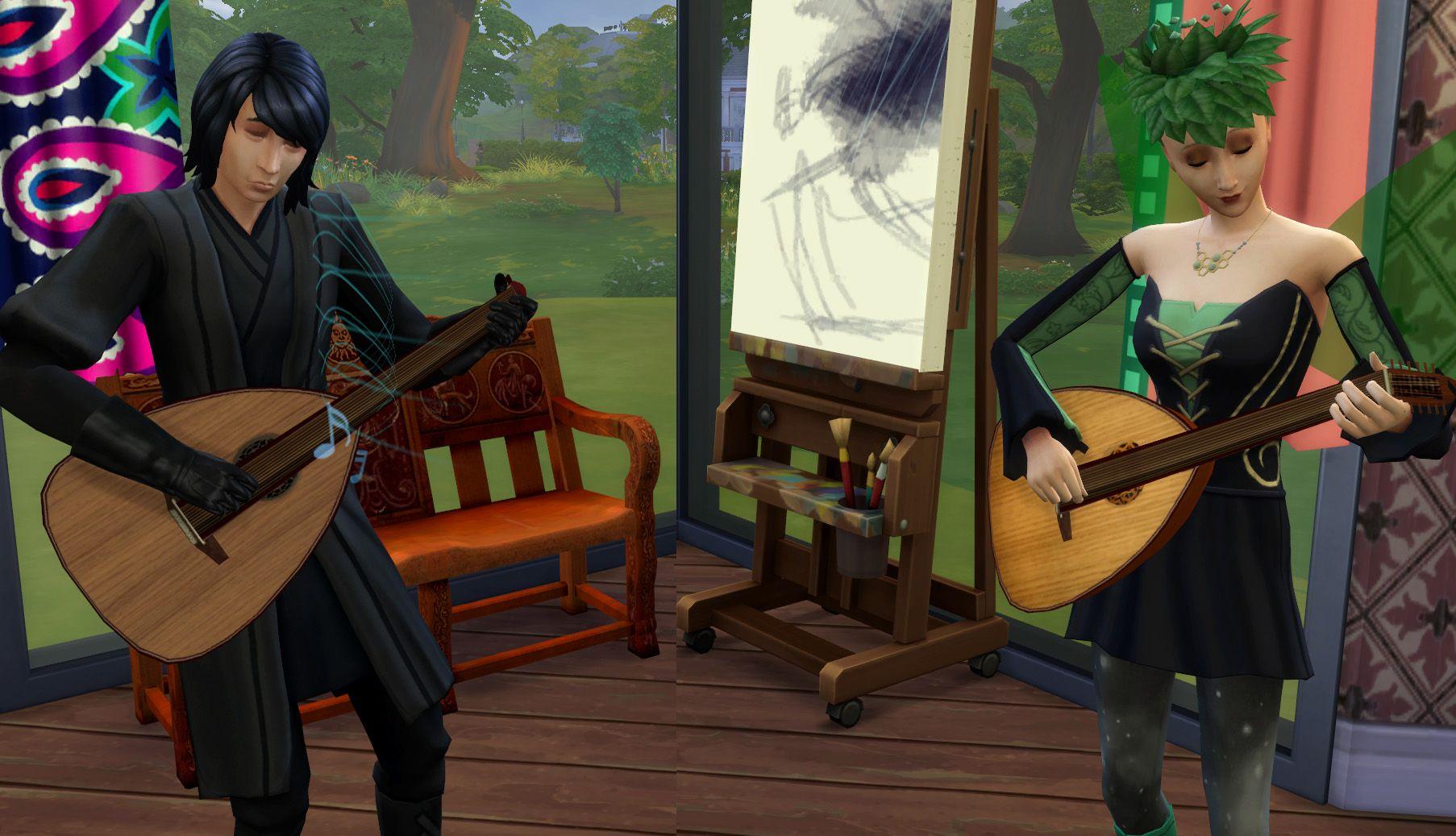 Mod The Sims Lute (Medieval/Renaissance Guitar) Sims