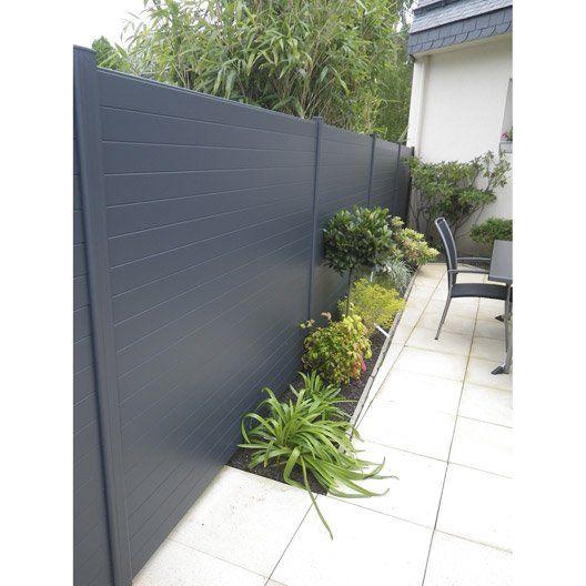 Lisse De Cloture Aluminium Klosup Naterial Gris Zingue H 145 X L 9 Cm Cloture Aluminium Cloture Pvc Cloture Maison