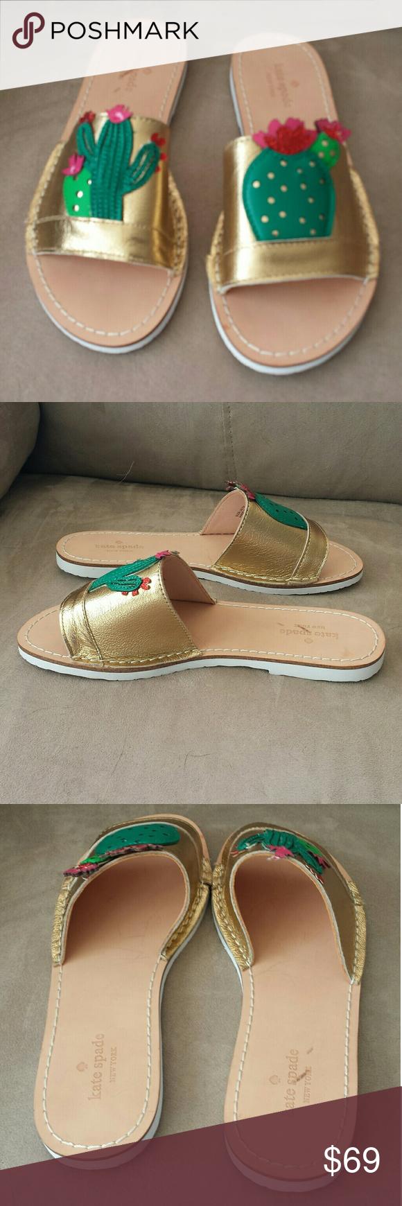 bcb8f10c622c Kate Spade New York Iguana Slide Sandals 7M New Kate Spade New York Iguana  slide