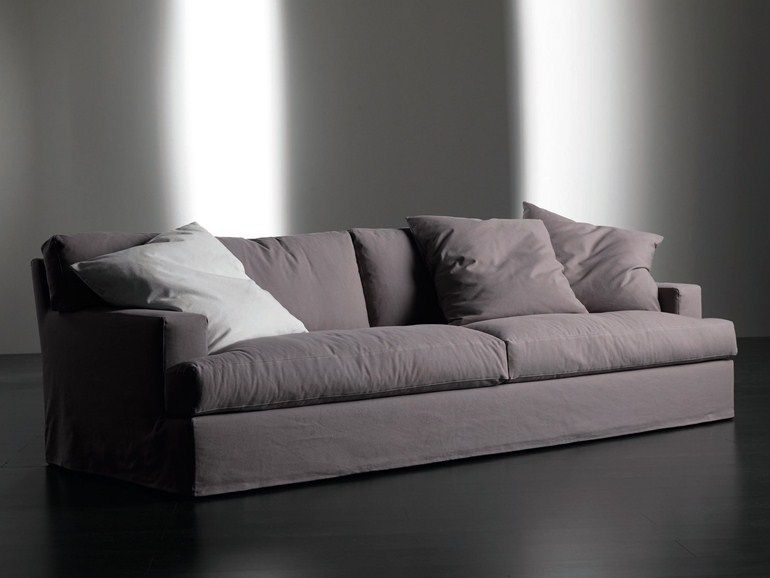Upholstered Sofa Bed With Removable Cover Bogart Collection By Meridiani Divano Letto Divani Letto Letti Imbottiti