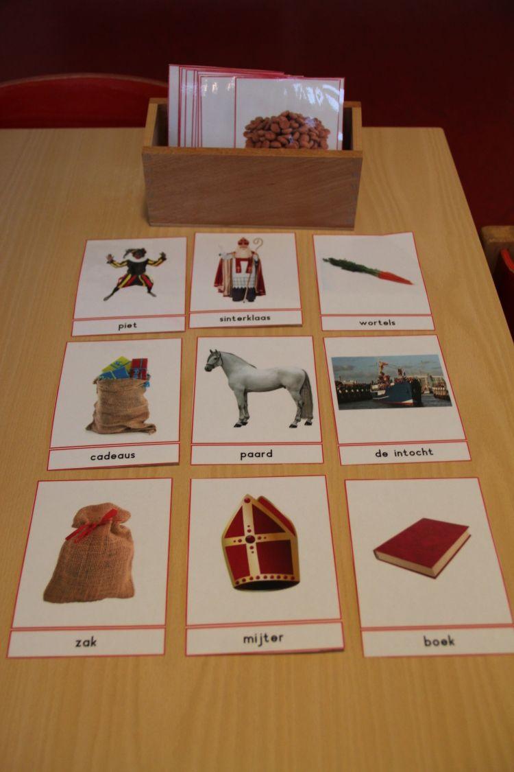Naamkaarten Sinterklaas - MontessoriNet