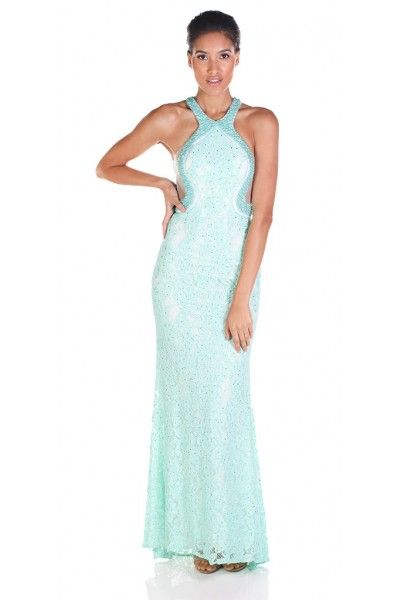 The perfect lace prom dress! Clarisse 4736 Seafoam Lace and Beaded ...