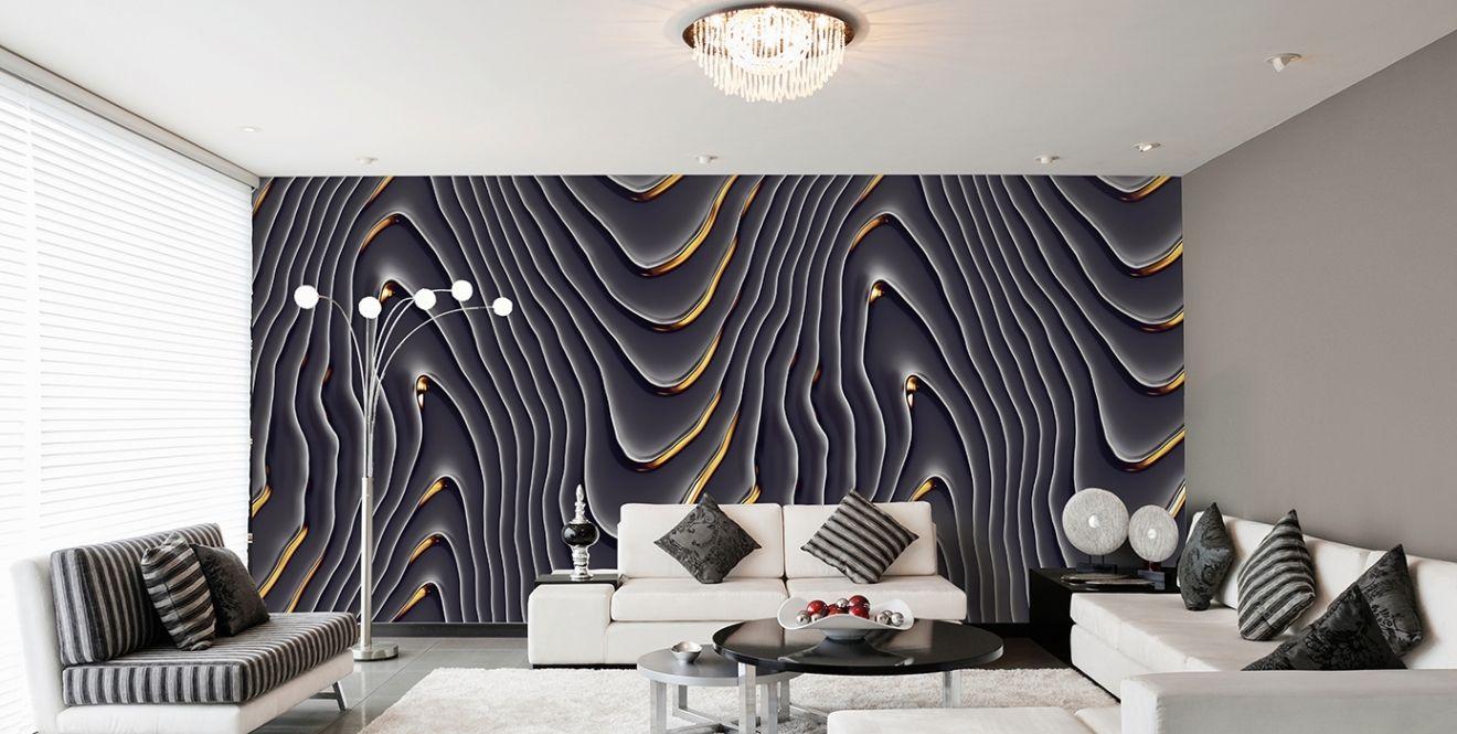Luxus Wohnzimmer ~ Luxus wohnzimmer tapeten schwarz weiß wohnwand