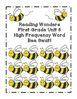 This is a great and fun way to practice High Frequency Words with your first graders!Print out the sight word bees (preferably on cardstock or heavy weight paper) and cut them out. (You can also laminate to last longer!) I bought a cheap fly swatter from the Dollar Store for the kids to swat the bees.