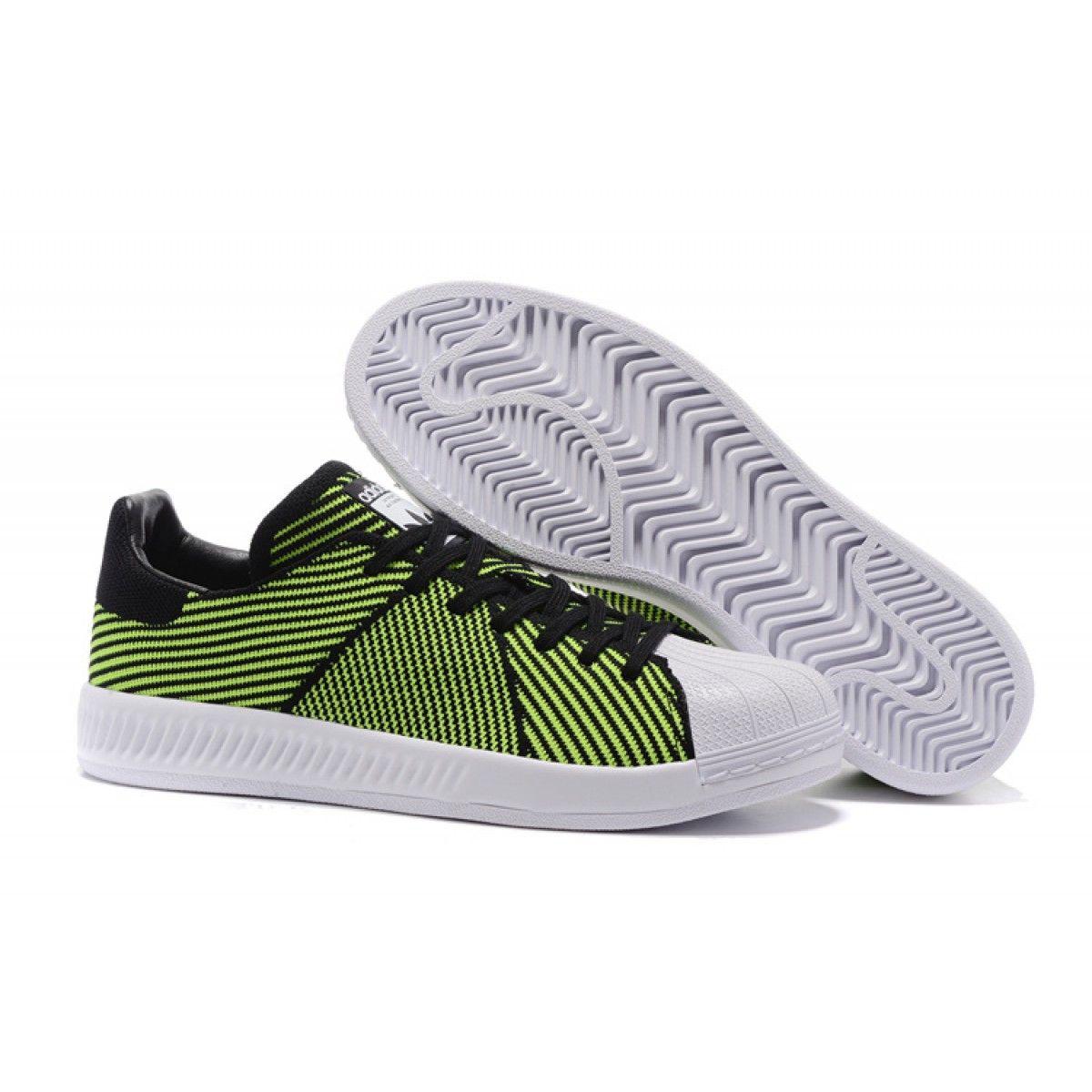 online store e12b5 c1d95 ... best adidas originals superstar bounce primeknit scarpe unisex verde  chiaro nero 5008a b7ee1