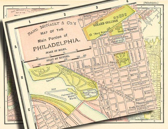 picture about Printable Map of Philadelphia identify map of Philadelphia versus in close proximity to 1901, a typical printable
