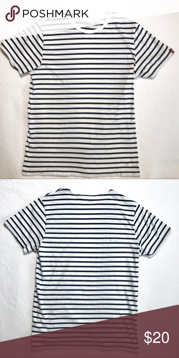 11357bbb7 Levi's Shirt White and navy striped Levi's shirt. Like new. Large. Levi's  Tops Tees - Short Sleeve