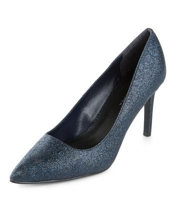 783c2795 Wide Fit Navy Glitter Pointed Heels Wide Fit Shoes, Current Fashion Trends,  Latest Trends