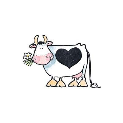 Valentine Cute Cow Cartoon In Love Stock Illustration ... |Cute Animated Cows In Love