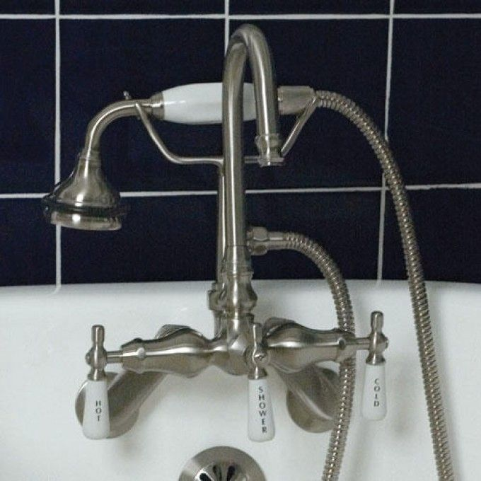 Galeton Tub-Wall-Mount Faucet and Hand Shower - Adjustable Spread ...