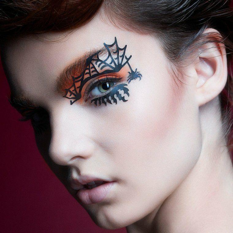 maquillajes halloween opciones telarana ideas - Maquillajes De Halloween
