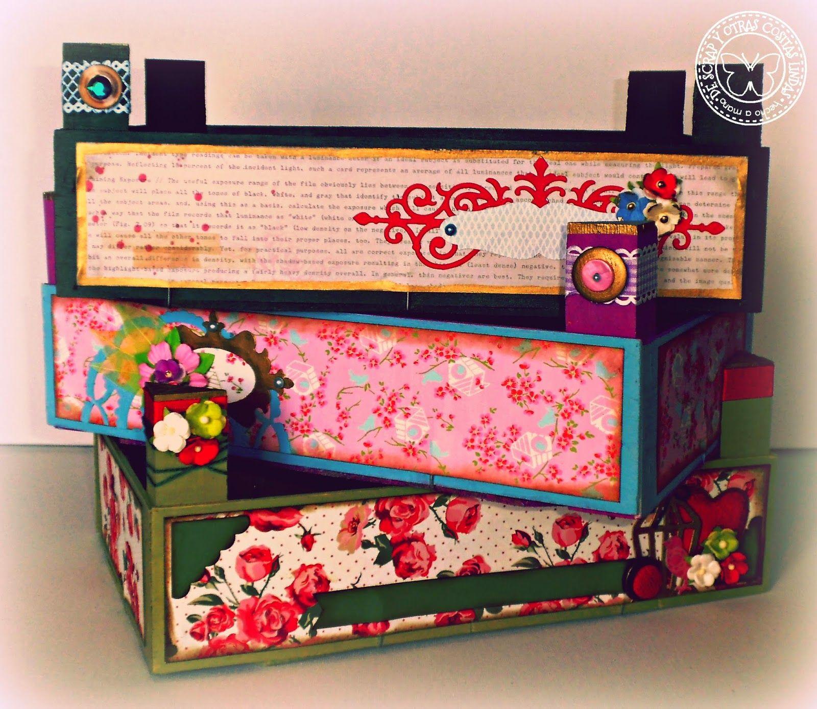 De scrap y otras cositas lindas m s cajas de fresas - Como decorar una caja de metal ...