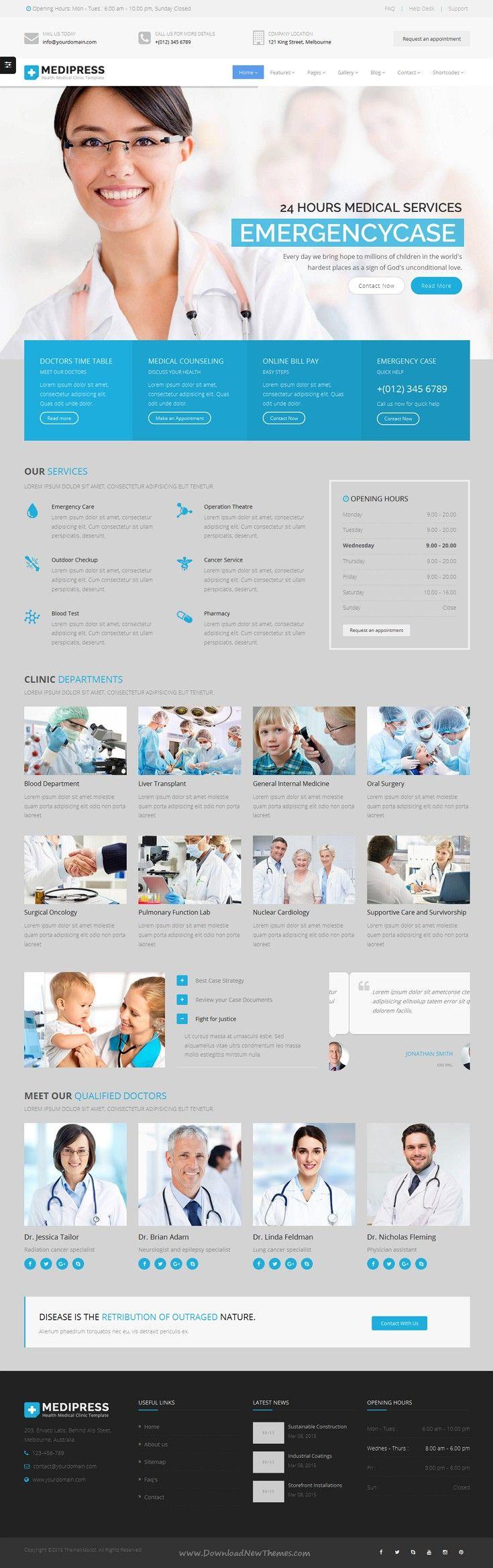 Health & Medical HTML - MediPress | Medical, Template and Website