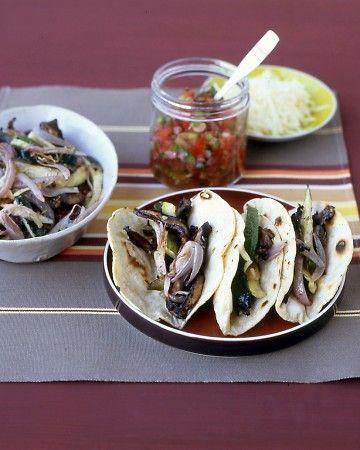 Portobello-Zucchini Tacos